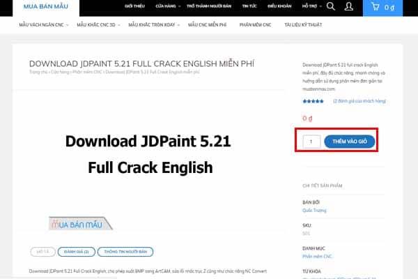 Chuẩn bị bộ cài đặt JDPaint 5.21
