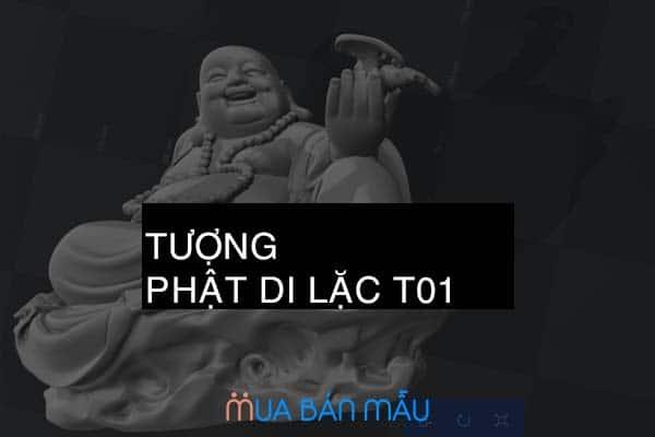Mẫu khắc tròn xoay 4D tượng tôn giáo Phật Di Lặc T01